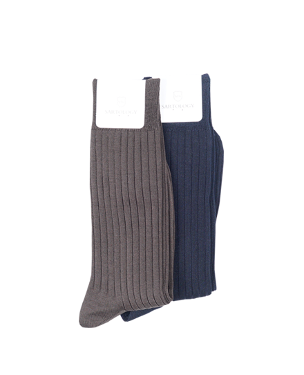 ETCRIP SOCKS BROWN+NAVY