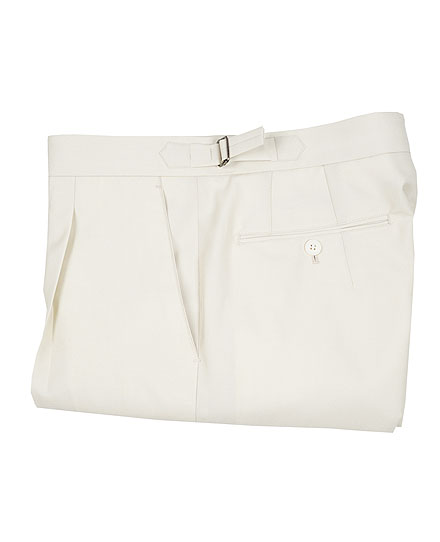 Signature Pants 02SUMMER WOOL ITALY CREAM